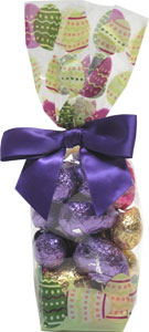 Organic Chocolate Easter Egg Gift Bags by Sjaaks