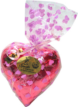 Organic Chocolate Heart Box Filled With Chocolates by Sjaaks