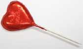 Organic Chocolate Valentine Heart Lollipops by Sjaaks