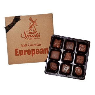 European Milk-Style Chocolate Assortment by Sjaak's Organics MAIN