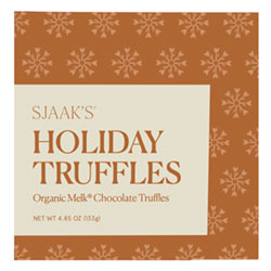 Sjaak's Organic 9 pc. Holiday Truffle Assortment - Milk Style THUMBNAIL