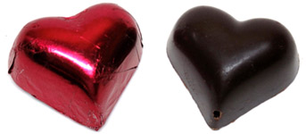 Sjaak's Organic Chocolate Valentine Hearts