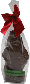 Organic Chocolate Santa Filled with Gummy Bears by Sjaaks