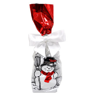 Holiday Bag of Organic Peanut Butter-Filled Chocolate Snowmen by Sjaaks MAIN
