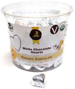 Sjaak's Organic White Chocolate Hearts