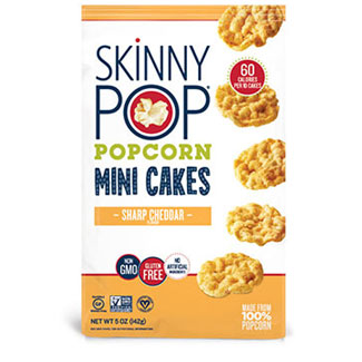 Skinny Pop Sharp Cheddar Popcorn Mini Cakes MAIN