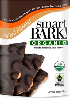 SmartBark! Organic Salted Almond Chocolate Bark