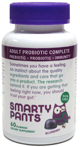 Smarty Pants Vegan Probiotic Gummies for Adults