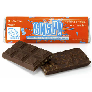 Snap! Crispy Rice Milk Chocolate Bar by Go Max Go Foods MAIN
