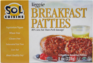 Vegan Breakfast Sausage Patties by Sol Cuisine