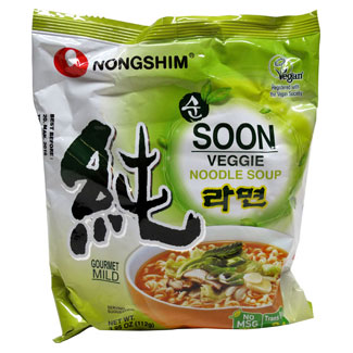 Soon Veggie Noodle Soup Packet by Nongshim MAIN