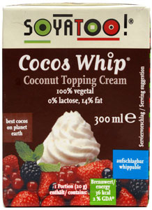 Coco Whip Topping Cream (Heavy Cream Substitute) by Soyatoo