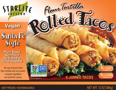 Santa Fe Style Vegan Rolled Tacos by Starlite Cuisine_LARGE