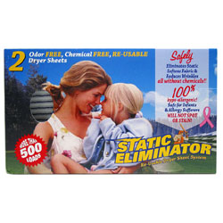 Static Eliminator Re-Usable Dryer Sheet System THUMBNAIL