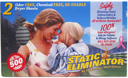 Static Eliminator Re-Usable Dryer Sheet System_LARGE