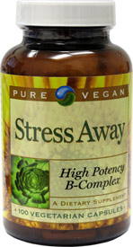 Stress Away High Potency B-Complex by Pure Vegan LARGE