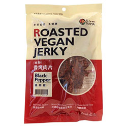 Roasted Vegan Jerky by Su Mama - Black Pepper THUMBNAIL
