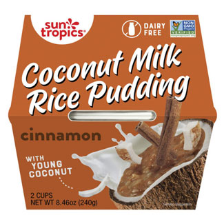 Sun Tropics Coconut Rice Pudding Snack Cups - Cinnamon MAIN