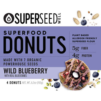 Wild Blueberry Superfood Donuts by Superseed Well LARGE