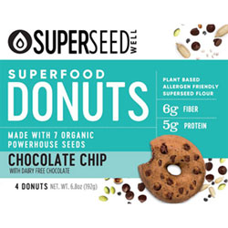 Chocolate Chip Superfood Donuts by Superseed Well THUMBNAIL