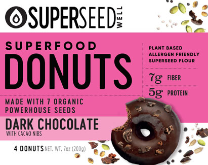 Dark Chocolate Dunked Superfood Donuts with Cacao Nibs by Superseed Well_LARGE