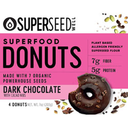 Dark Chocolate Dunked Donuts with Cacao Nibs by Superseed Well THUMBNAIL