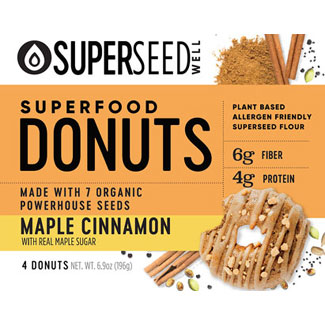 Maple Cinnamon Superfood Donuts by Superseed Well LARGE