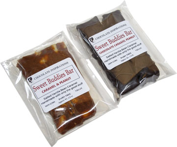 Sweet Buddies Caramel & Peanut Bars by Chocolate Inspirations LARGE
