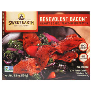 Benevolent Bacon Hickory & Sage Smoked Seitan Bacon by Sweet Earth MAIN