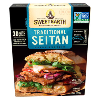 Seitan Strips by Sweet Earth Natural Foods - Traditonal LARGE