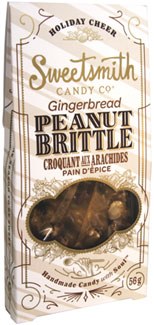 Gingerbread Vegan Peanut Brittle by Sweetsmith Candy Co.