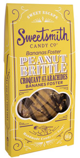 Bananas Foster Vegan Peanut Brittle by Sweetsmith Candy Co.