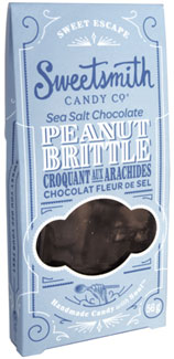 Sea Salt Chocolate Vegan Peanut Brittle by Sweetsmith Candy Co.