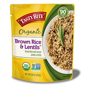 Tasty Bite Organic Brown Rice & Lentils MAIN