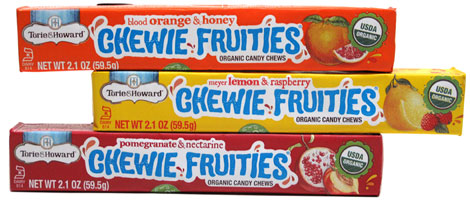Chewie Fruities Organic Candy Chew Single-Flavor Packs by Torie & Howard