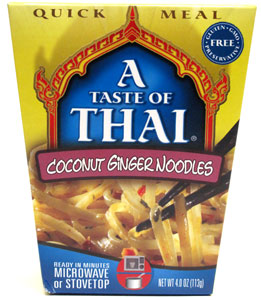 Coconut Ginger Noodles Quick Meal by A Taste of Thai