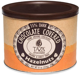 Organic Chocolate Covered Hazelnuts by Taza Chocolate