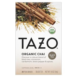 Tazo Organic Chai Black Tea Bags - 20 count box MAIN