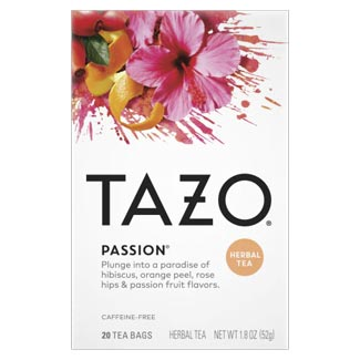 Tazo Passion Herbal Tea Bags - 20 count box MAIN