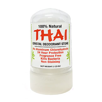 Thai Crystal Deodorant Stone - 2.125 oz. travel size LARGE