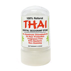 Thai Crystal Deodorant Stone - 2.125 oz. travel size THUMBNAIL