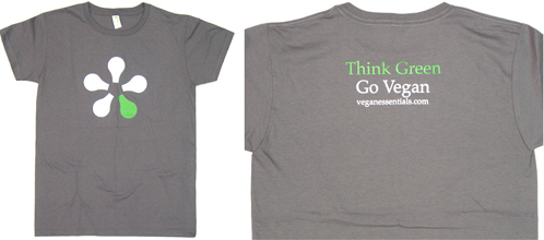 258ad5adf0ad Think Green - Go Vegan T-Shirt (Clothing and Message Wear / Veg ...