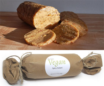 Artisan Vegan Spicy Salami by The Tiny Vegan
