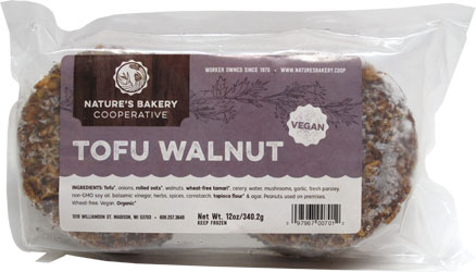 Tofu Walnut Burgers by Nature's Bakery Cooperative