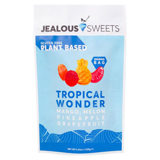 Jealous Sweets Tropical Wonder Gummy Candies - Large 125g bag MAIN