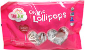 Organic Cherry Heart Lollipops by TruJoy Sweets