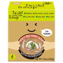Red Miso with Spicy Mushroom Tsubi Soup Instant Miso 4-pack THUMBNAIL