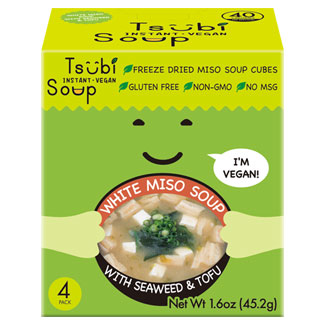 White Miso with Seaweed and Tofu Tsubi Soup Instant Miso 4-pack MAIN