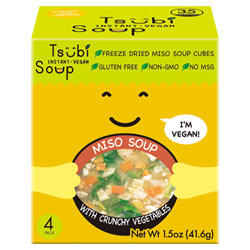 Yellow Miso with Crunchy Vegetables Tsubi Soup Instant Miso 4-pack THUMBNAIL