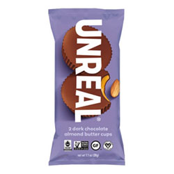 Unreal Dark Chocolate Almond Butter Cups - 2 pack THUMBNAIL